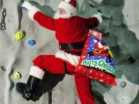 FREE PIC- Santa at Edinburgh Climbing Arena 04